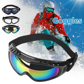 Skiing Goggles Cycling Glasses Sunglasses Eyewear PC Lens Anti-UV Windproof Anti-fog Sand Moto Outdoor Winter Sport Protective