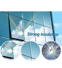 One Way Mirror Window Privacy Film Heat Control Anti UV Tint Solar Reflective Self-Adhesive for Daytime Sun Blocking Silver