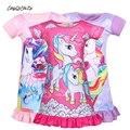 Ночная рубашка для маленьких принцесс, Детская летняя пижама в виде единорога для девочек, ночная рубашка, летняя детская ночная рубашка дл...
