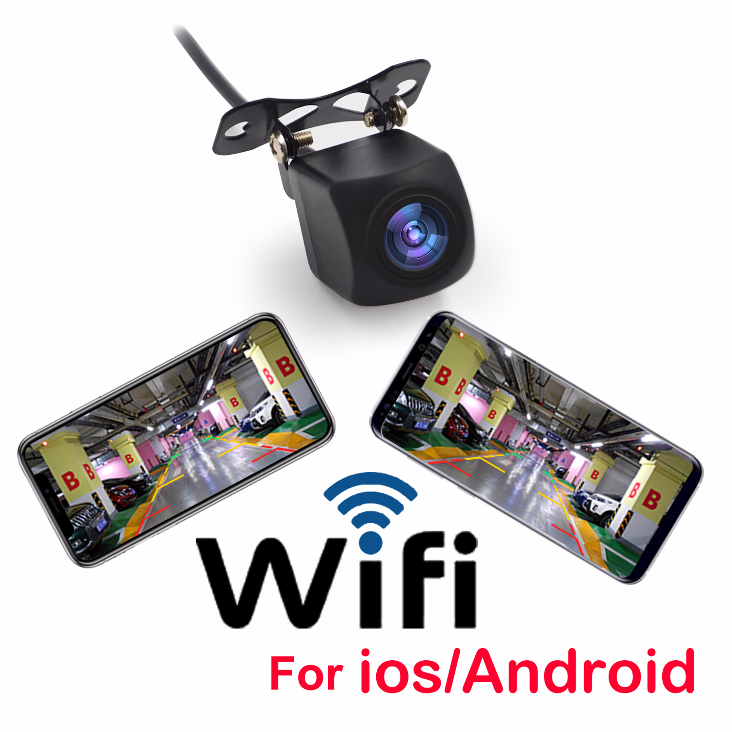 OHANEE Wireless Car Rear View Camera WIFI Auto Reversing Camera Vehicle Dash Cam Star Night Vision For IPhone And Android Phone