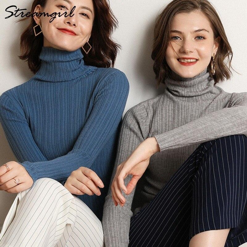 Rollkragen Frauen Pullover Winter Pull Femme Hiver Grande Taille Dünne Frauen Pullover Und Pullover Damen Rot Pullover Frauen Jumper