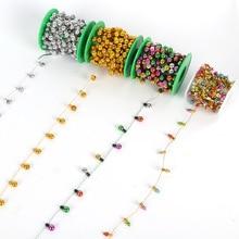 5m Christmas ribbon colorful artificial Pearl bulb garland decorations for home navidad tree decor