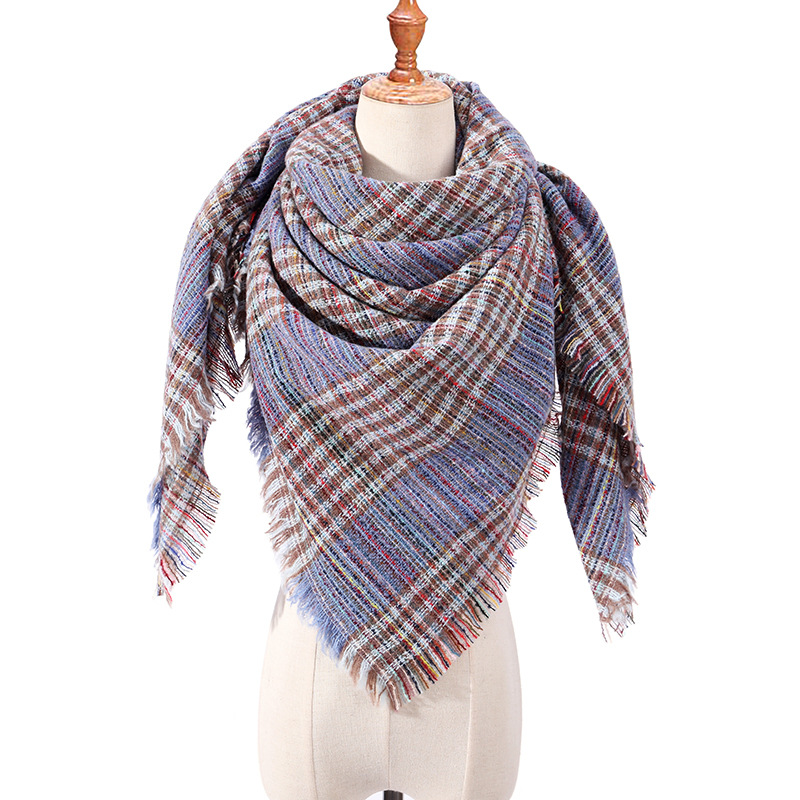 Women Knit Cashmere Shawls Scarf Warm Winter Bandage  Triangle Pashmina Female Foulard Blanket Bandana Stoles