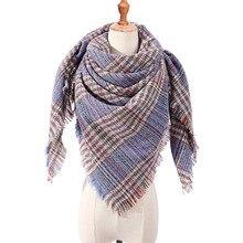 Women Knit Cashmere Shawls Scarf Warm Winter Bandage  Triangle Pashmina Female Foulard Blanket Bandana Stoles