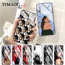 YIMAOC Rihanna cute wallpaper pictures luxury Glass Case for Xiaomi Redmi 4X 6A note 5 6 7 Pro Mi 8 9 Lite A1 A2 F1