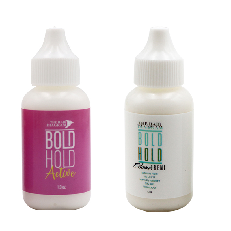 Bold Hold Extreme Cream Lace Wig Waterproof Adhesive Hair System Glue And Remover 1.3 Oz