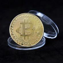 Позолоченный Биткоин монета художественный сувенир отличный подарок Коллекционная физическая металлическая монета крипто памятная монет...