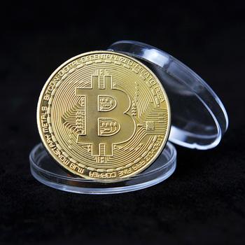 Pozłacane Bitcoin moneta sztuka pamiątka wielki prezent kolekcjonerski fizyczny Metal moneta Crypto pamiątkowa moneta tanie i dobre opinie CN (pochodzenie) Nowoczesne Galwanicznie Europa 2000-Present Maskotka Bitcoin Coin Silver Gold Coins Collectibles