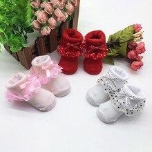 Малыши чесаный Хлопковые короткие носки для маленьких девочек с фатиновой юбкой и бантом, носки с забавными рисунками для новорожденных и малышей, для маленьких девочек зимние носки теплые гольфы носочки для девочки
