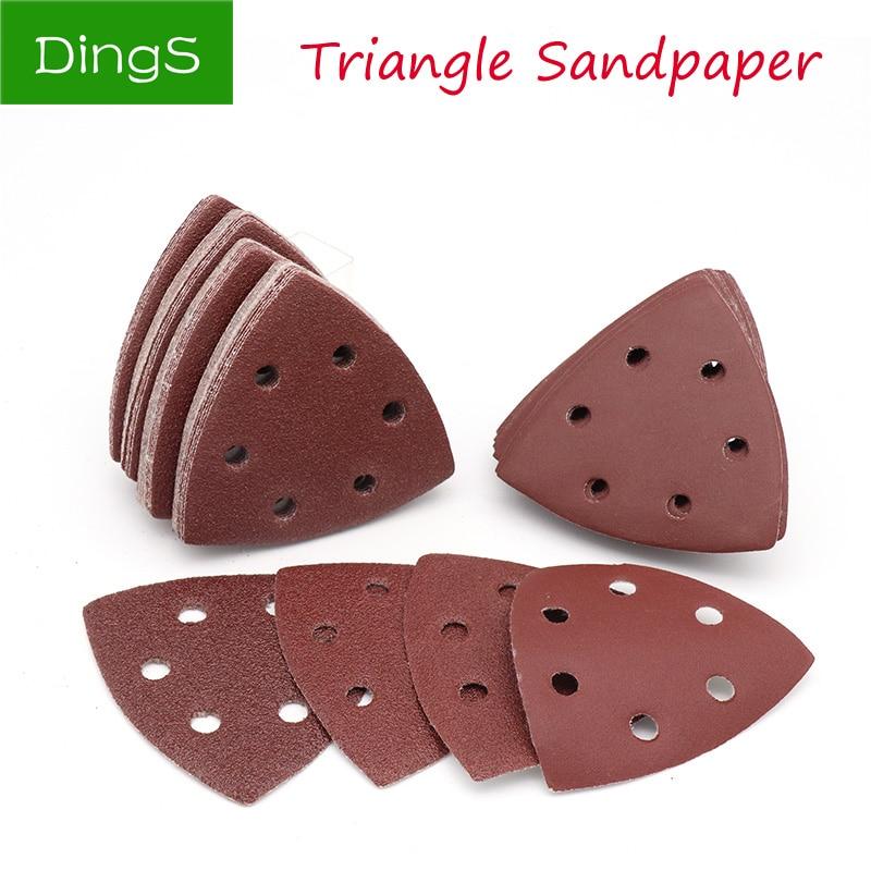 10pcs Triangle Delta Sander Sand Paper Self-adhesive Sandpaper Hook Loop Sandpaper Disc Abrasive Tool For Polishing Grit 40-400