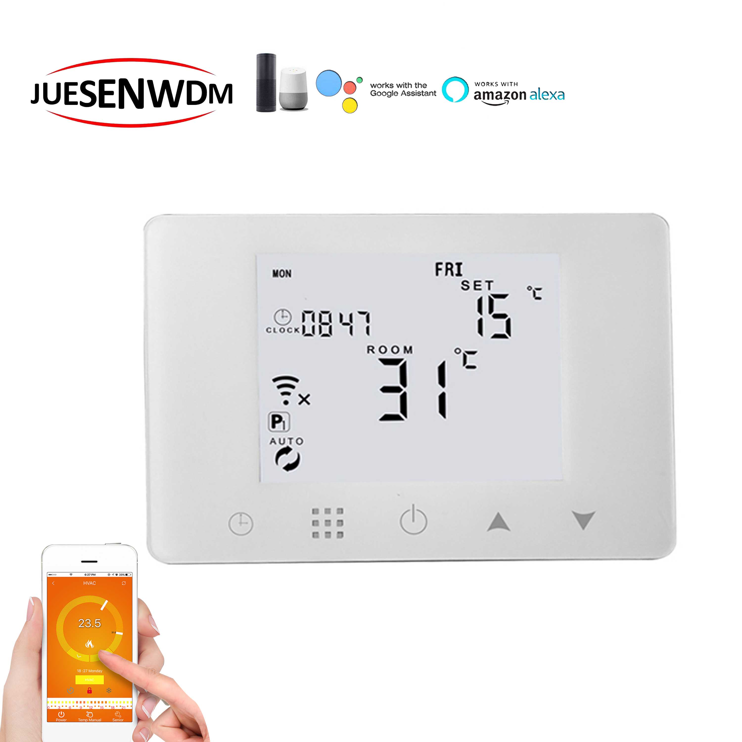 Home Smart Thermostat WIFI&RF Warm System For Thermostatic Controls Works With Alexa Google Home