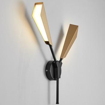 Creative postmodern Nordic fashion bamboo light luxury wall lamp living room bedroom study hotel club lamps