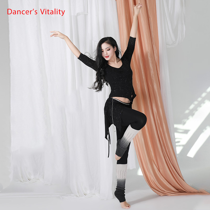 Belly Dance Set Modal Cotton Oriental Dance Performances In Autumn And Winter Top+Pants 2pcs Free Delivery