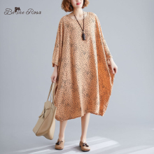 BelineRosa 5xl 6xl 7xl Big Size Holiday Dresses Early Autumn Polka Dot Batwing Plus DressDBFS0057