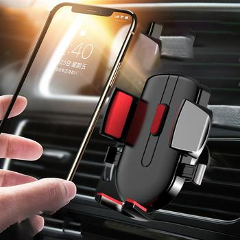 Gravity Car Phone Holder Air Vent Clip Mount Mobile Phone Holder Stand GPS Support Phone Stand for iPhone X 11 Pro 8 image