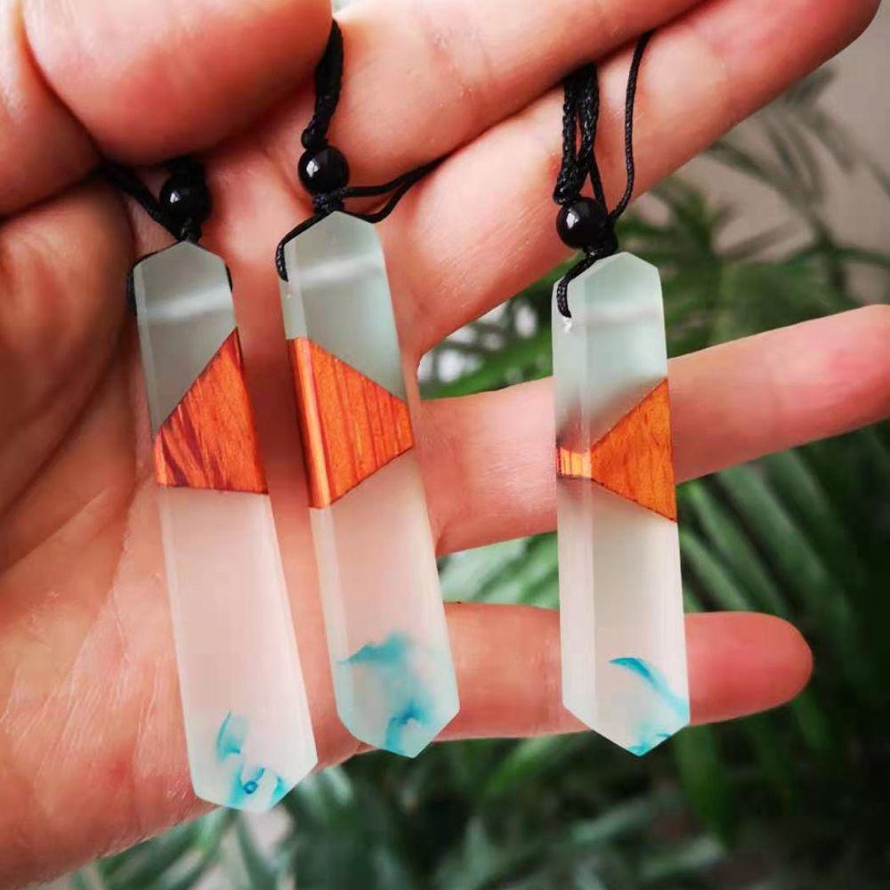 Модное ювелирное ожерелье, Акция! Старинные подвески, ожерелье из дерева и смолы, для мужчин и женщин, чтобы носить повседневные подарки