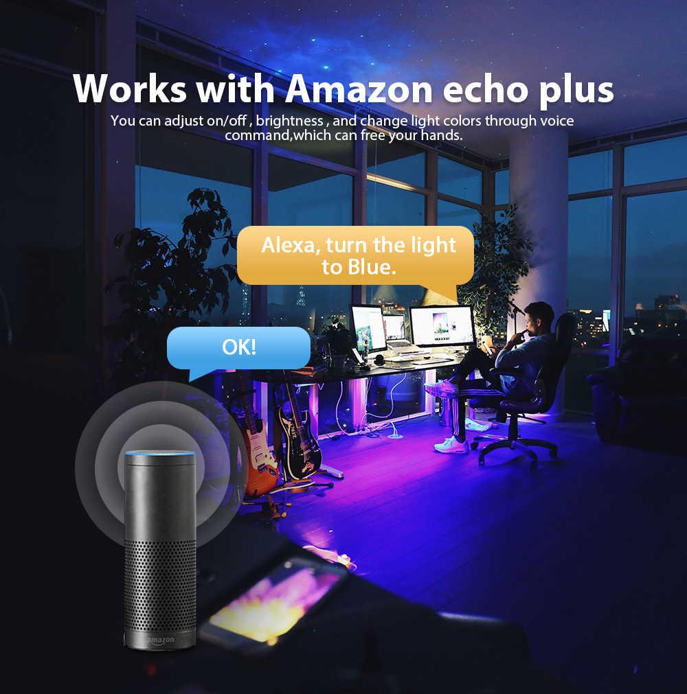 USB светодиодные полосы света ТВ фоновое освещение комплект светодиодный RGB + CCT zigbee умное приложение Amazon Alexa echo plus настольная фоновая лампа 5 В
