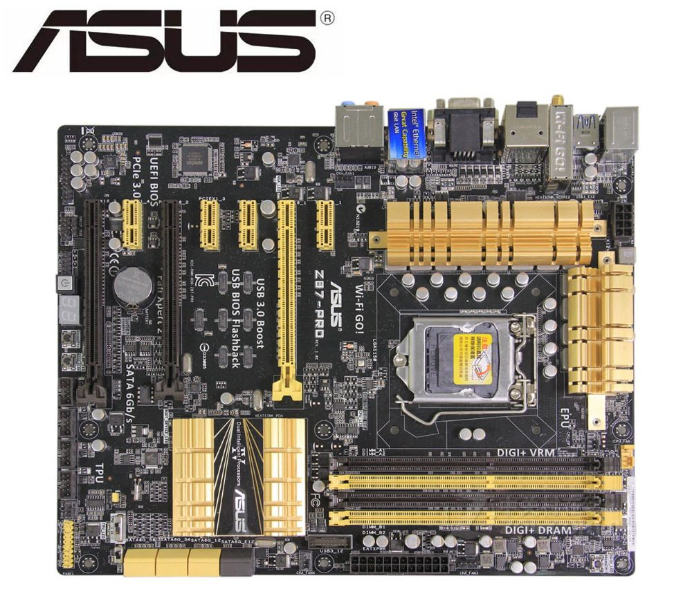 ASUS Z87-PRO Original Motherboard  DDR3 LGA 1150 USB2.0 USB3.0 For I3 I5 I7 CPU 32GB Z87used Desktop Motherboard On Sales Boards
