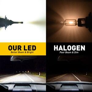 Image 2 - 2 adet H7 LED far H4 H11 H8 H9 9005/HB3 9006/HB4 9012 HIR2 10000LM 6000K beyaz araba led far lambaları sis araba ışıkları ışıkları