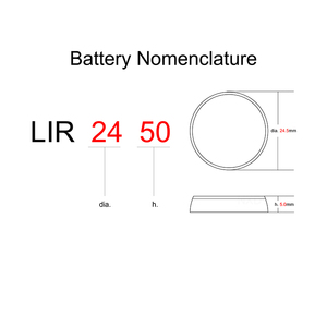 Image 3 - Li ion Rechargeable Battery LIR2450 3.6V 2 PCS Lithium Button Cells Coin Cell Watch Batteries LIR 2450 Replaces CR2450
