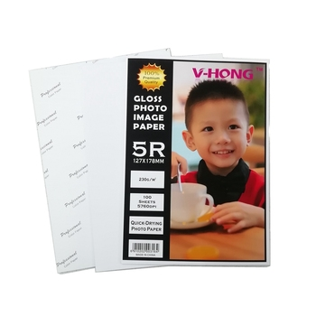 A5 błyszczący papier atramentowy wodoodporny papier 4R drukarka atramentowa kolorowy papier drukowy 5R reklama fotograficzna Propaganda papier do druku tanie i dobre opinie V-HONG A4 and Customized 230g Papier fotograficzny white glossy paper 4R 5R A5 inkjet and laser printer 1-20