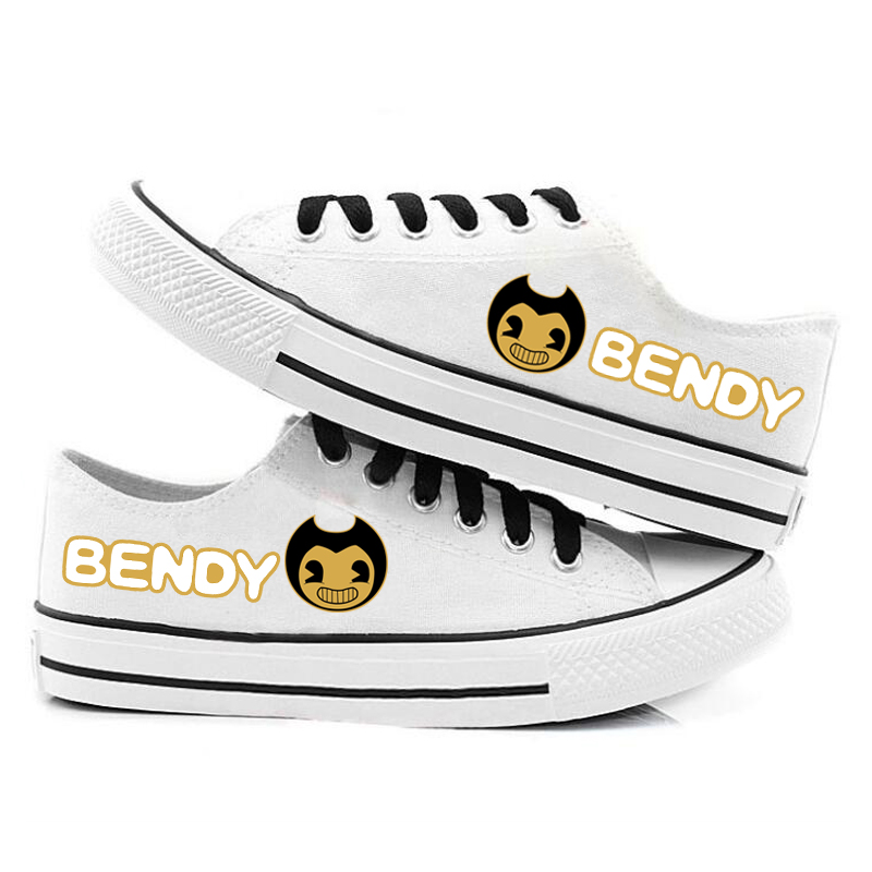 New Bendy And The Ink Machine Canvas Shoes Sneakers Boys And Girls Teenagers Cartoon Casual Shoes Teenagers Sports Tennis Shoes
