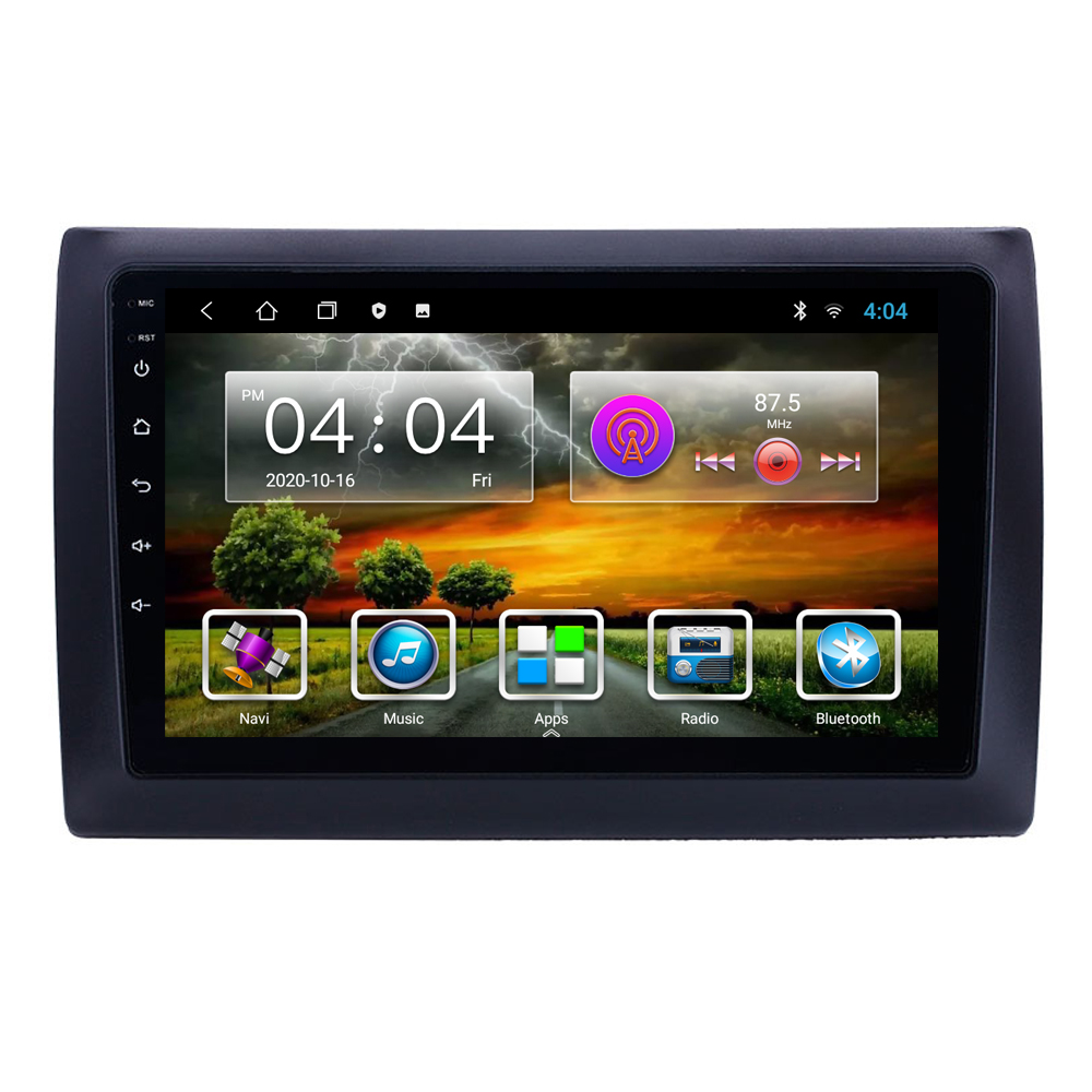 Eastereggs-reproductor Multimedia con GPS para coche, Unidad Principal estéreo con Android, 9 pulgadas, 2 Din, SIN DVD, para Fiat Stilo 2010