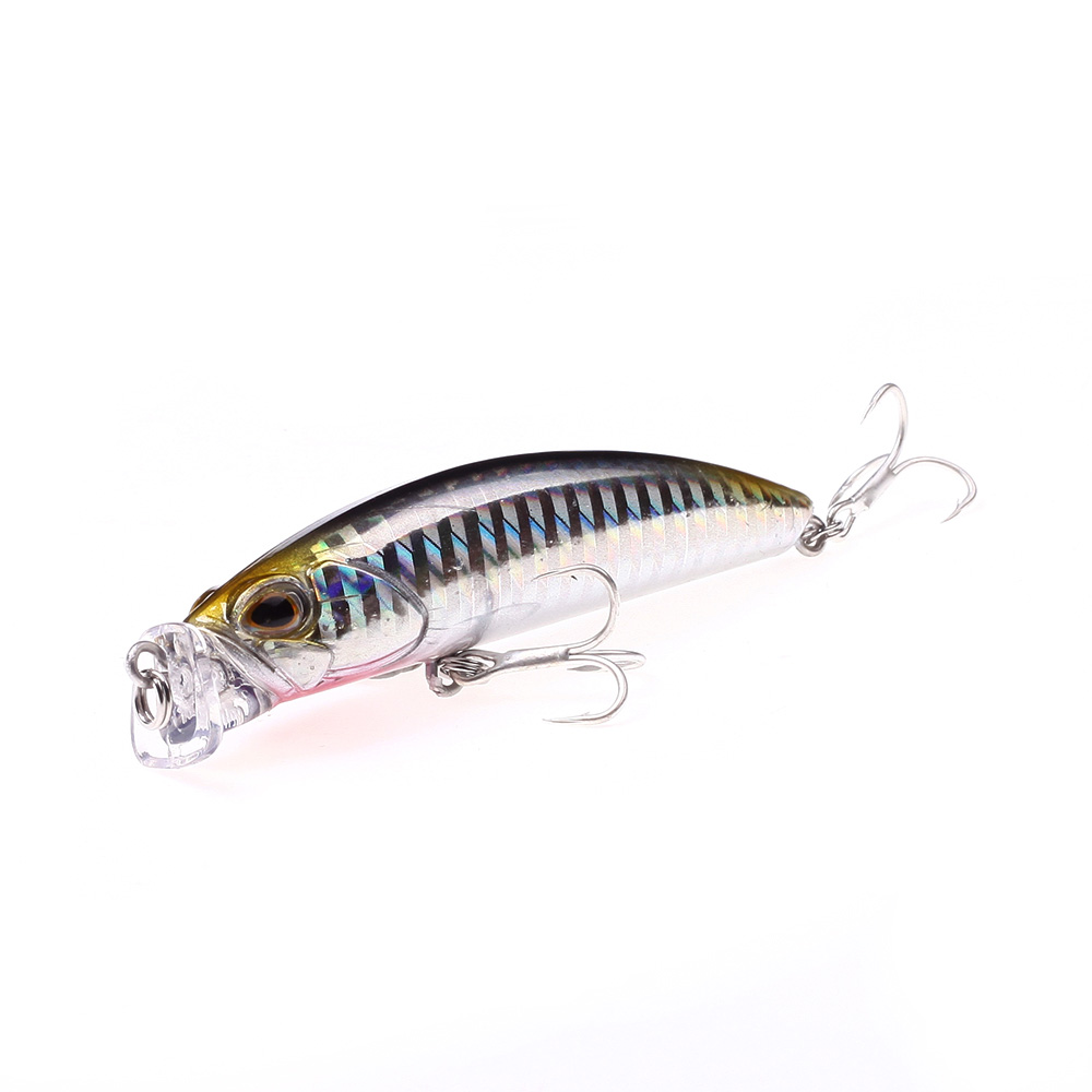 Deep Diving Fishing Lures 10g / 80mm Lifelike Wobblers Crankbait with 8# Hooks Popper