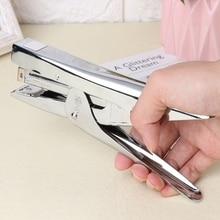 Durable Metal Heavy Duty Paper Plier Stapler Desktop Stationery Office Supplies QX2B