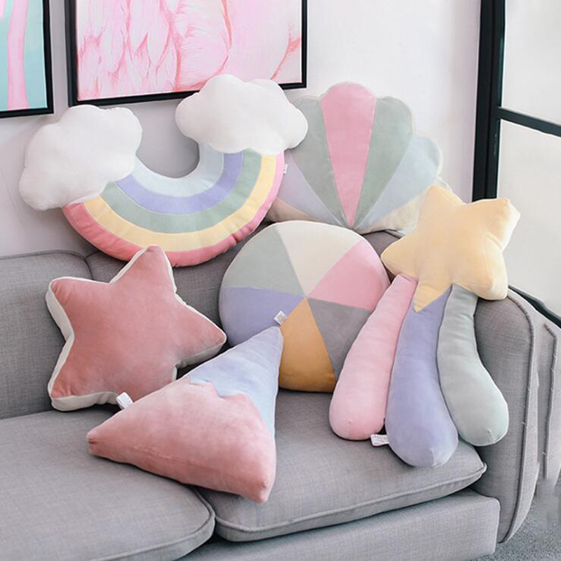 Creative Pillow Cartoon Star Cloud Moon Pillow Home Decorative Cushion Adult Children Gift Soft Plush Toys For Baby Window Decor