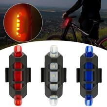 Bike Bicycle Light LED Tail Light Rear Tail Safety Warning Cycling Portable Light USB Rechargeable Cycling Bicycle Tail Light usb rechargeable bike led tail light bicycle safety cycling warning rear lamp bicycle back light 5 modes 2m16