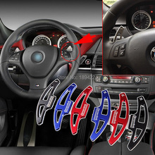 купить 2pcs High Quality  Car Steering Wheel Shift Paddle Shifter Extension For BMW X6 M 2010-2014 дешево