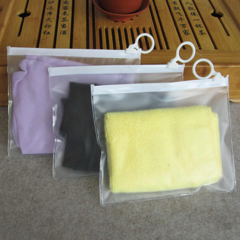 10pcs Travel PVC Ziplock Bag Zipper Storage Bag for Cosmetic/Underwear Sock Transparent Packaging Bag Storage Pouch 16x13cm