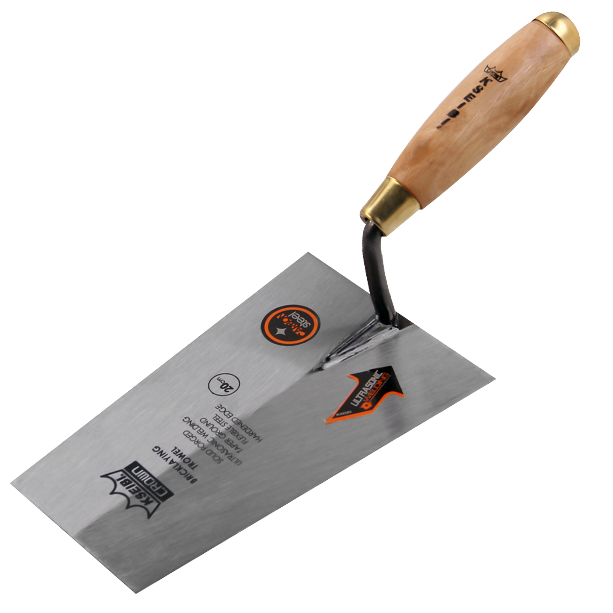 Paint Tools Bricklaying High Gauging Tip Square Putty Knife Trowel Remover Drywall Grade Work Trowel Parts Steel KSEIBI Set