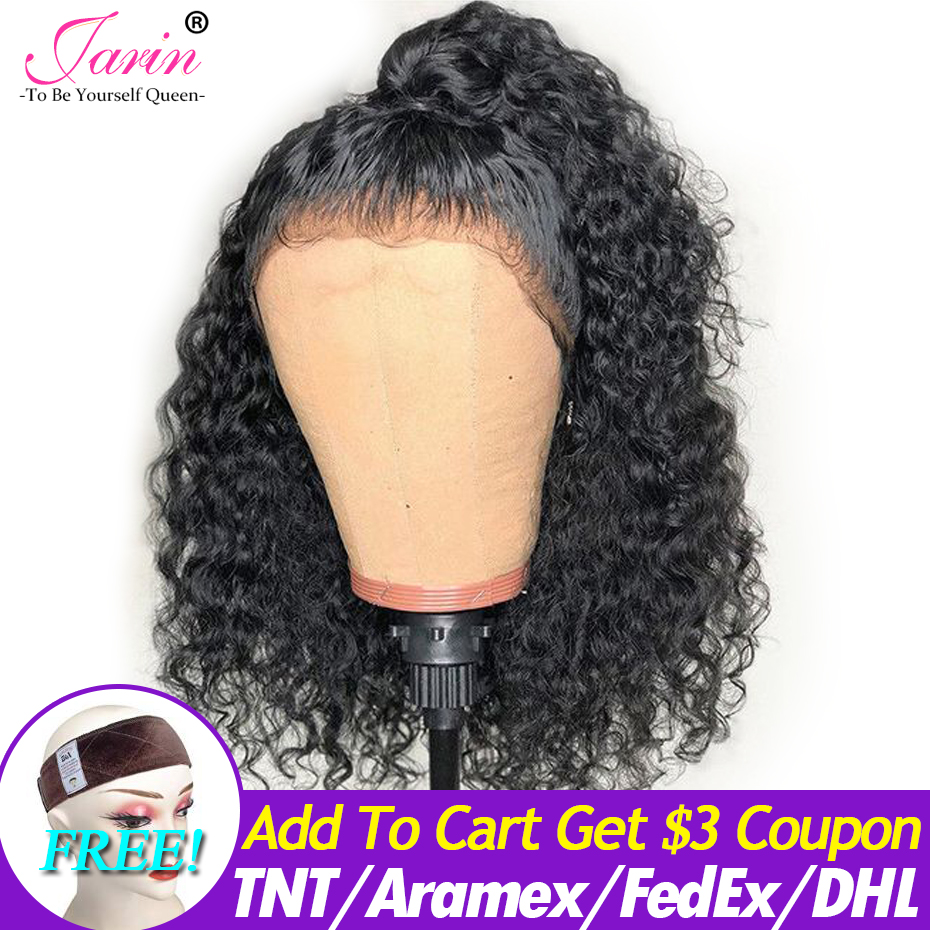 360 Lace Frontal Wigs Kinky Curly Human Hiar Lace Front Wig 180% Density Brazilian Remy Hair Pre Plucked Hairline Natural Color
