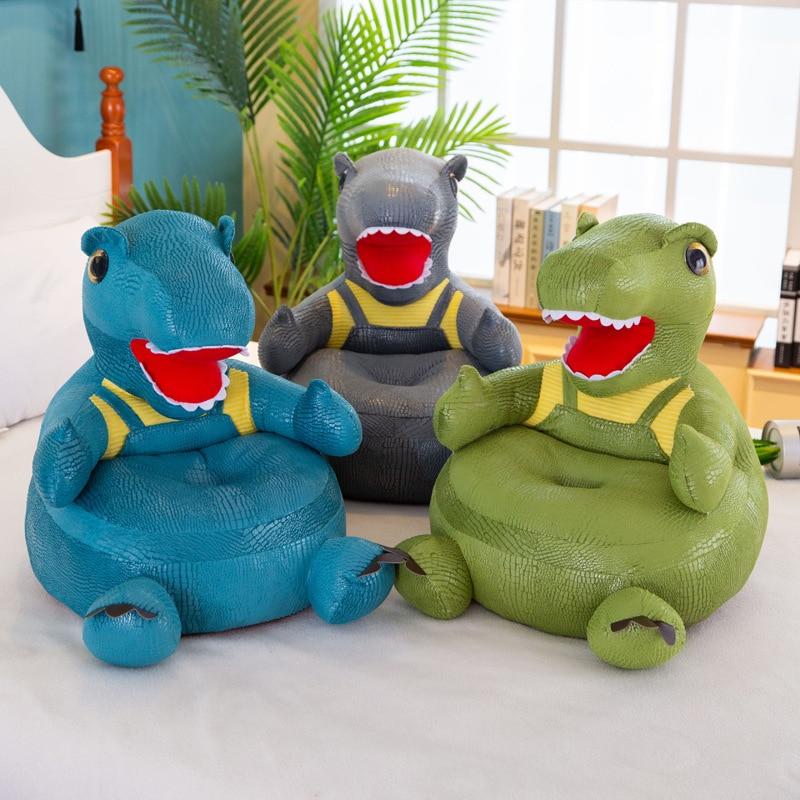 Creative Simulation Crocodile Skin Dinosaur Sofa Learning Seats Soft Chair Washable Removable Sofa Baby Plush Toys Children Gift