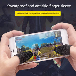 Fingertip-Gloves Phone-Game Game-Controller Black 10pcs Anti-Slip Mobile Breathable
