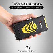 Многофункциональный автомобильный Jump Starter Kit 14000 мА/ч, два USB выхода, Мощность банк аварийный усилитель аккумулятора с светодиодный фонарик
