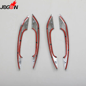 Image 4 - Glossy Chrome For Audi A4 S4 RS4 B9 A5 S5 RS5 2017 Q5 FY 2018 2019 Car Styling Door Side Handle Molding Cover Trim Accessories