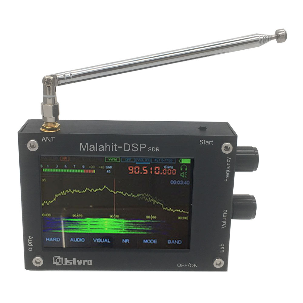 50 кГц-2 ГГц регистрационный код Малахитовый SDR радио Malahit DSP sdr-приемника Поддержка DFU онлайн обновления прошивки + антенна + USB кабель