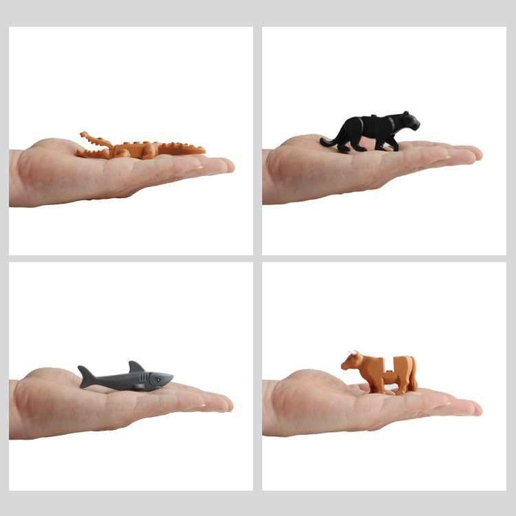 Ocean Land zwierząt dinozaur wieloryb rekin gepard żyrafa osioł krokodyl niedźwiedź krowa wielbłąd tygrys blok figurka MINI Toy MINIFigure