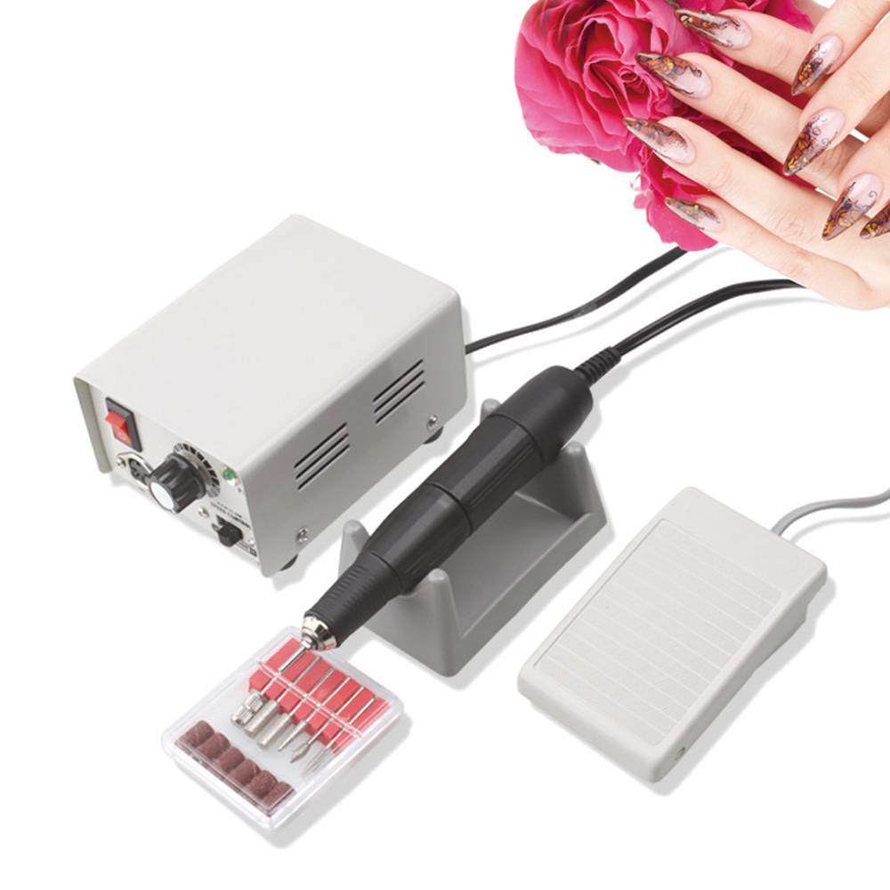 Strong 90/204 65W 35000RPM Electric Nail Drill Machine Model Handpiece Manicure Pedicure Nail File Bit Nail Art Equipment-in Electric Manicure Drills from Beauty & Health