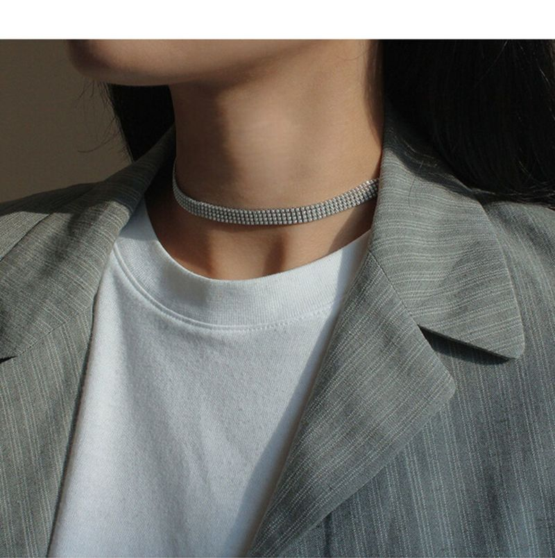 Timeless Wonder Glam Layer Pearl Wrap Choker Necklace Women Jewelry Punk Gothic Designer Trendy Top Ins Street Chic New <font><b>1342</b></font> image