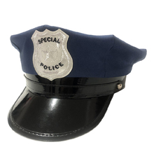 Children Octagonal Cap Pretend Play Police Hat Police Role Play Cop Toy For Boys Kids Gift 2020 New Arrival  - Black /Blue