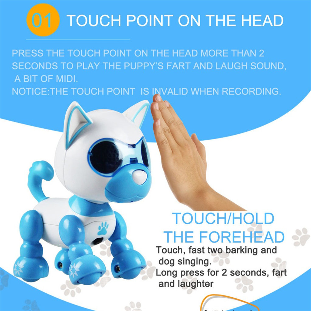 Function Robot Dog Toy Intelligent Pet Robot Children Interactive Playmate Electronic Inductive Touch Puppy Toys Gifts For Child