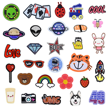 1 PCS Patches for Clothing Foods Animal UFO Iron on Embroidered Clothes Jacket Dress Embroidery Applique Accessories