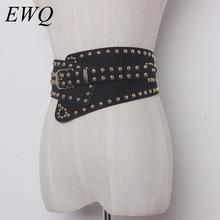 EWQ / men's and women's Clothing accessories Rivet decoration elastic waist elastic waistband 2020 tide new cummerbunds 9Y1154
