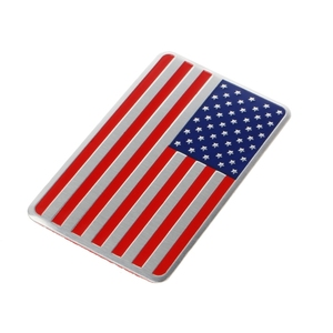 Image 3 - NoEnName_Null Metal American US Flag Car Sticker Logo Emblem Badge For Jeep Bmw Fiat VW Ford