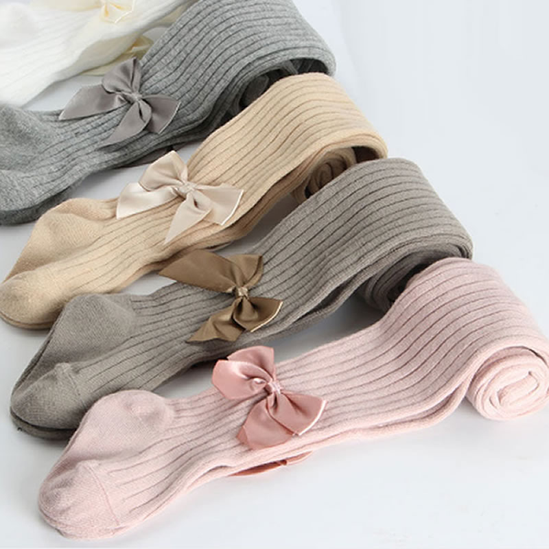 Cute Pink Bowknot Tights for Girls Mesh Cotton Girls Tights Winter Soft Comfortable Baby Girls Pantyhose Infant Clothing