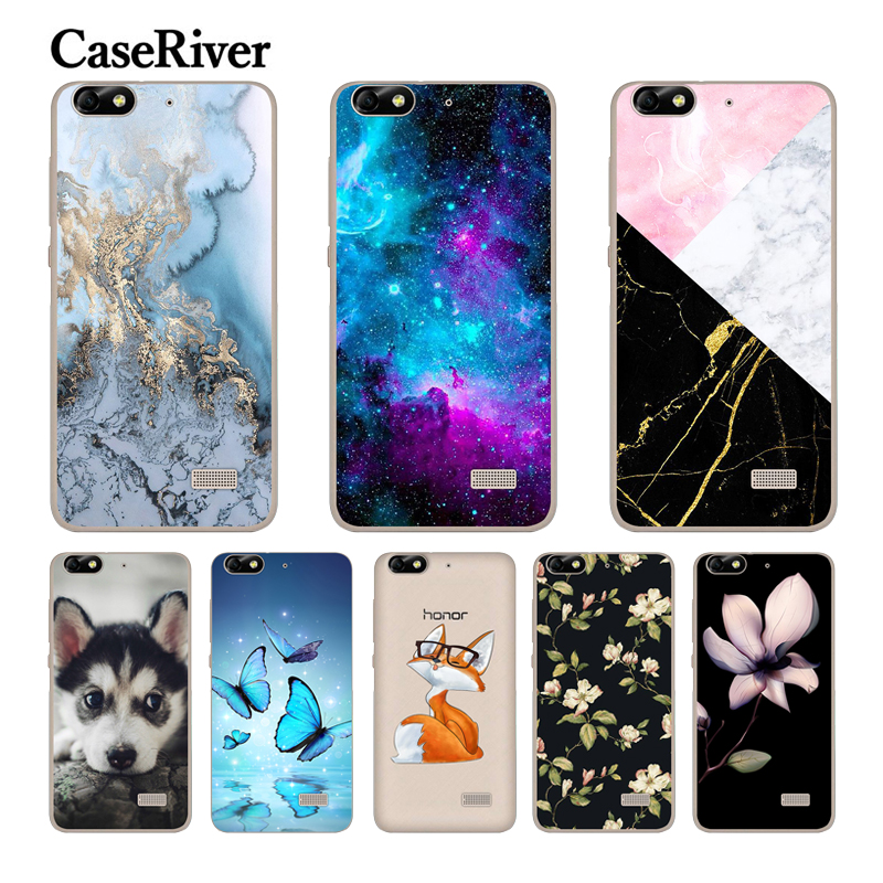 "CaseRiver for 5.0 ""Huawei G Play Mini Case TPU փափուկ սիլիկոնային հեռախոս Huawei Honor 4C Cover CHM-U01 CHC-U01 համար Honor 4C Case- ի համար"